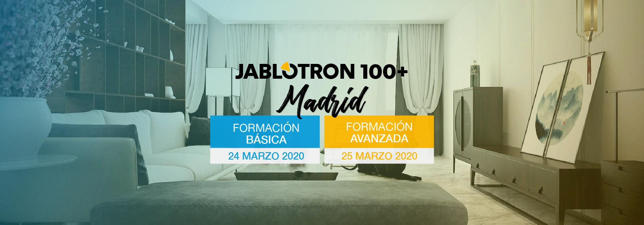 Formaciones Jablotron 100+ | Básica y Avanzada | Marzo.2020